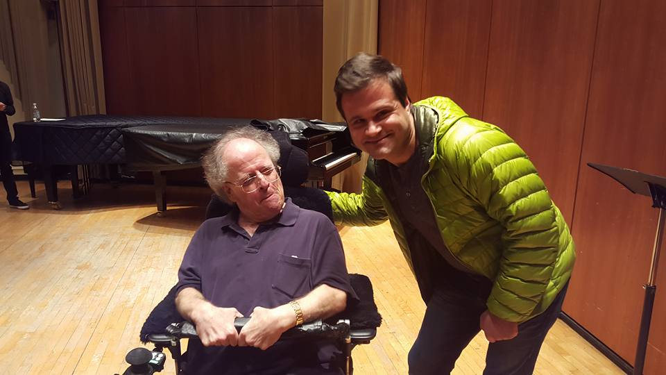 With the great Maestro after his retirement announcement.